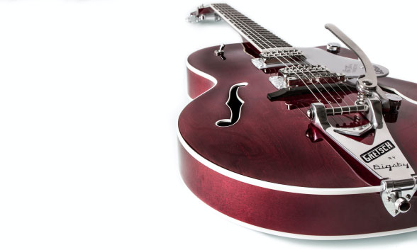 Gretsch semi acoustic electric guitar